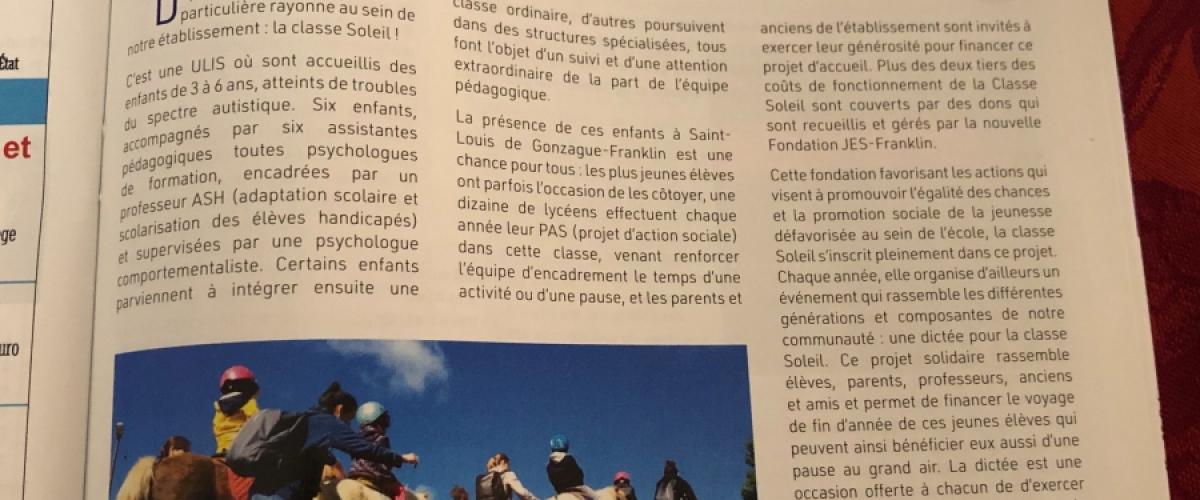 Un article dans le magazine des Apel parisiens